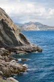 θάλασσα βουνών τοπίων Στοκ Φωτογραφία