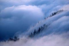 Θάλασσα βουνών των σύννεφων Στοκ Φωτογραφίες