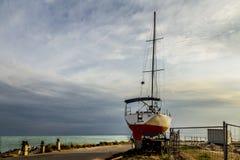 Θάλασσα γιοτ στην ξηρά στοκ εικόνα με δικαίωμα ελεύθερης χρήσης