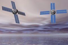θάλασσα δορυφόρων Στοκ φωτογραφίες με δικαίωμα ελεύθερης χρήσης