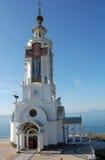 θάλασσα εκκλησιών ortodox Στοκ φωτογραφία με δικαίωμα ελεύθερης χρήσης