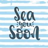 Θάλασσα εσείς σύντομα Στοκ Εικόνα