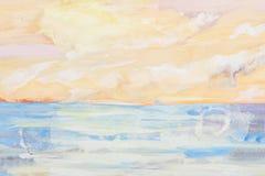 θάλασσα ζωγραφικής τοπίων Στοκ Φωτογραφίες