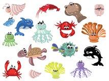 θάλασσα ζώων διανυσματική απεικόνιση