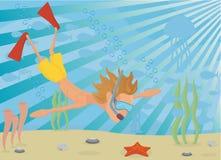 θάλασσα κάτω Απεικόνιση αποθεμάτων