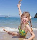 θάλασσα κοριτσιών συγκί&n Στοκ Εικόνα