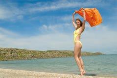 θάλασσα κοριτσιών Στοκ φωτογραφία με δικαίωμα ελεύθερης χρήσης