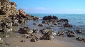 Θάλασσα, κύματα, ψεκασμός, ακτή απόθεμα βίντεο