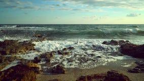 Θάλασσα, κύματα, ψεκασμός, ακτή φιλμ μικρού μήκους