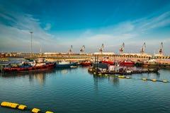 Θάλασσα λιμανιών του Μπακού στοκ φωτογραφία με δικαίωμα ελεύθερης χρήσης