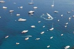 θάλασσα μερών yahts Στοκ φωτογραφίες με δικαίωμα ελεύθερης χρήσης