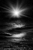 θάλασσα νύχτας απεικόνιση αποθεμάτων
