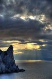 θάλασσα νύχτας Στοκ Φωτογραφίες