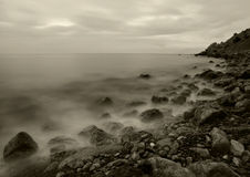 θάλασσα νύχτας Στοκ Φωτογραφία