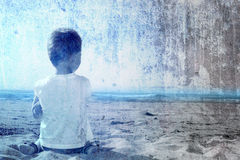 θάλασσα παιδιών Στοκ Εικόνες