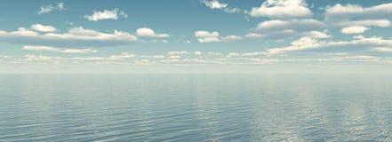 θάλασσα πανοράματος Στοκ Εικόνα