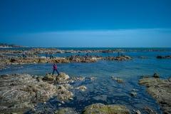 Θάλασσα σε Qingdao, Κίνα στοκ εικόνα