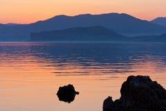 θάλασσα σκηνής βραδιού Στοκ Φωτογραφία