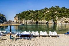 Θάλασσα στο νησί της Κέρκυρας στην Ελλάδα στοκ εικόνα