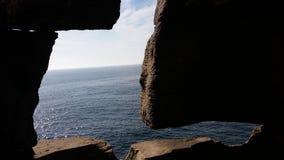 θάλασσα στο παράθυρο Στοκ Εικόνες