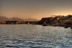 θάλασσα τοπίων της Αιγύπτ&omic Στοκ φωτογραφίες με δικαίωμα ελεύθερης χρήσης