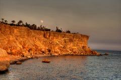 θάλασσα τοπίων της Αιγύπτ&omic Στοκ φωτογραφία με δικαίωμα ελεύθερης χρήσης