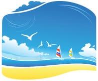 θάλασσα τοπίων απεικόνιση αποθεμάτων
