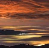 Θάλασσα των σύννεφων στοκ φωτογραφία