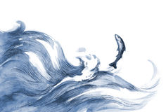 θάλασσα ψαριών απεικόνιση αποθεμάτων