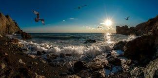Θάλασσα andscape Κριμαία φύσης ομορφιάς Στοκ Φωτογραφία