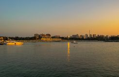 Θάλασσα Montazah στην Αλεξάνδρεια Αίγυπτος στοκ φωτογραφίες