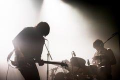 Θάνατος άνωθεν το 1979 (πανκ ορχήστρα ροκ) στη συναυλία στον ήχο 2015 Primavera στοκ φωτογραφίες