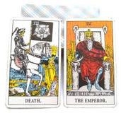 Θάνατος/αυτοκράτορας καρτών γέννησης Tarot ελεύθερη απεικόνιση δικαιώματος