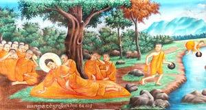 Θάνατος της νωπογραφίας του Βούδα στοκ φωτογραφίες με δικαίωμα ελεύθερης χρήσης
