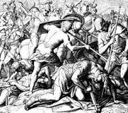 Θάνατος του Saul στοκ εικόνες