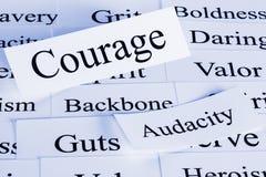 θάρρος έννοιας Στοκ εικόνα με δικαίωμα ελεύθερης χρήσης
