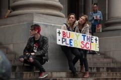 Θάψτε το δημοψήφισμα Στοκ εικόνα με δικαίωμα ελεύθερης χρήσης