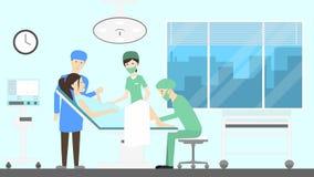 Θάλαμος νοσοκομείων μητρότητας απεικόνιση αποθεμάτων