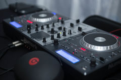 Θάλαμος του DJ στοκ φωτογραφία
