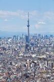 θάλαμος TV δέντρων πύργων του Τόκιο sumida ουρανού 634 τοποθετημένος μετρητών Στοκ Φωτογραφίες