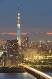 θάλαμος TV δέντρων πύργων του Τόκιο sumida ουρανού 634 τοποθετημένος μετρητών Στοκ εικόνα με δικαίωμα ελεύθερης χρήσης