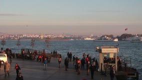 Θάλασσα άποψης φύσης πόλεων της Ιστανμπούλ φιλμ μικρού μήκους