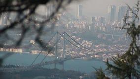 Θάλασσα άποψης φύσης πόλεων της Ιστανμπούλ απόθεμα βίντεο