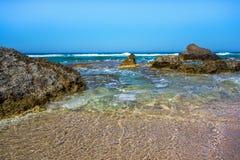 θάλασσα βράχων Ελλάδα Στοκ Φωτογραφία