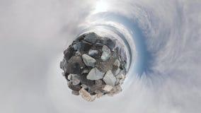 θάλασσα βράχων Κύλισμα μικροσκοπικό λίγος πλανήτης φιλμ μικρού μήκους