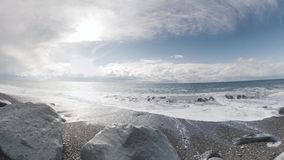 θάλασσα βράχων Μικροσκοπικός λίγος πλανήτης απόθεμα βίντεο
