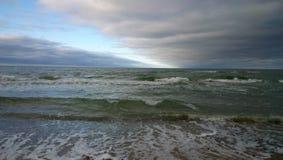Θάλασσα βραδιού Στοκ Εικόνες