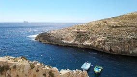 Θάλασσα γύρω από τη Δημοκρατία της Μάλτας Στοκ Φωτογραφία