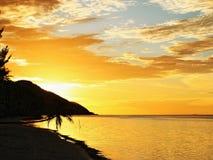 Θάλασσα ηλιοβασιλέματος Στοκ φωτογραφίες με δικαίωμα ελεύθερης χρήσης