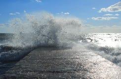 θάλασσα θυελλώδης Στοκ Εικόνα